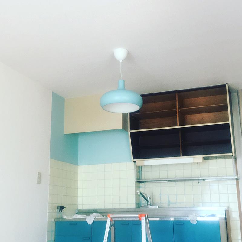 キッチン照明設置