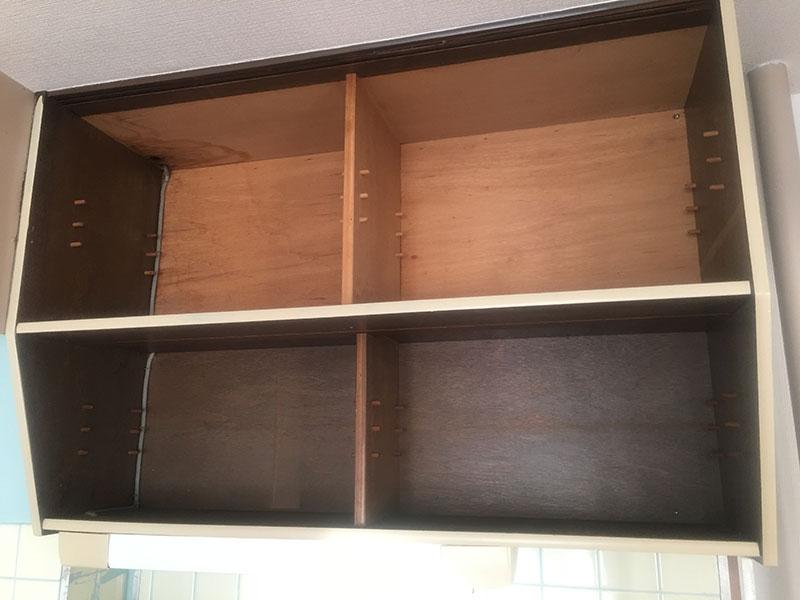 キッチン棚塗装