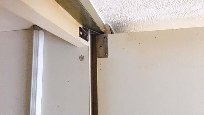 キッチンリノベ シンク下部分扉を撤去