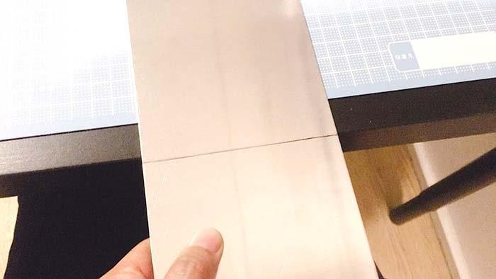 塩素で表札 アルミ板 折る