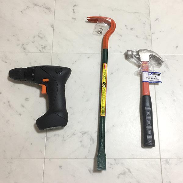 押入れを撤去するための道具